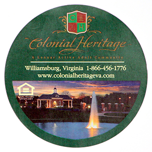 Round label for Colonial Heritage