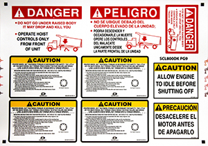 Vehicle Equipment Label Kit - English/Spanish