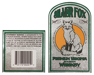 Silver Fox Labels printed on metallic media